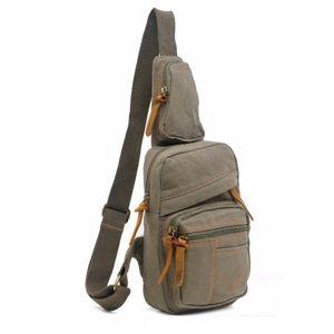 Men's Canvas Crossbody Backpack